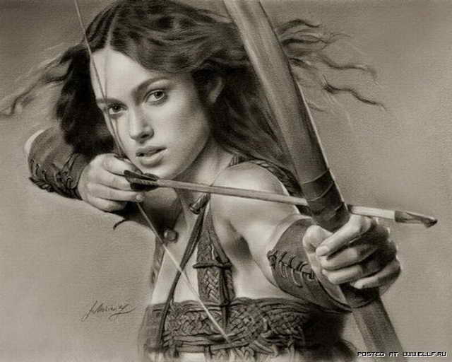 Женщина с луком