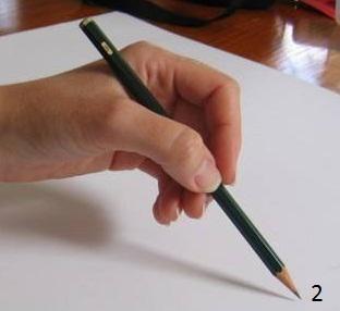 Высокий захват карандаша