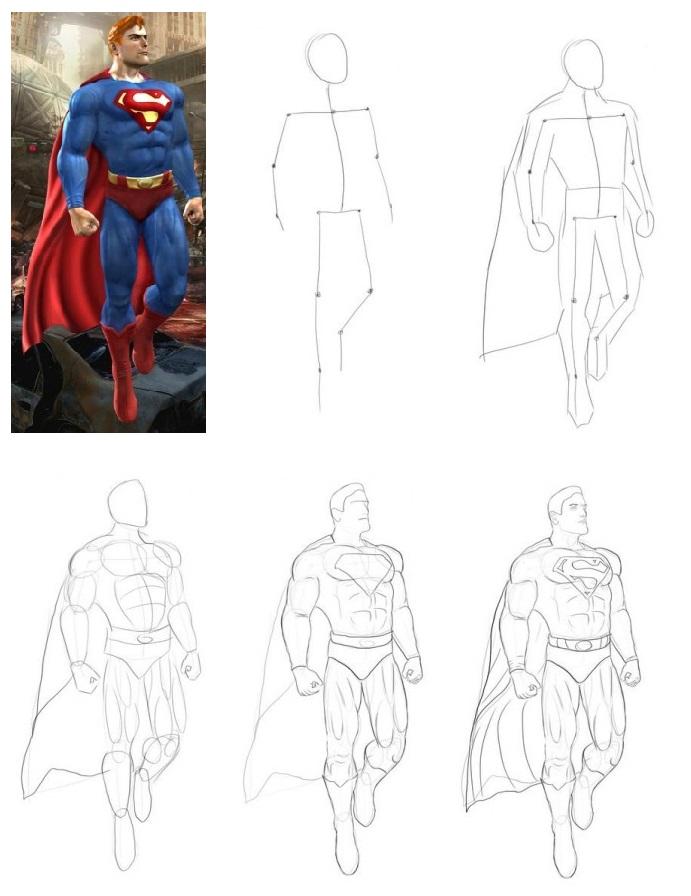 как-рисовать-супермена-433x470