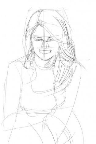 Как-нарисовать-Селену-Гомес-карандашом-поэтапно-3-313x470