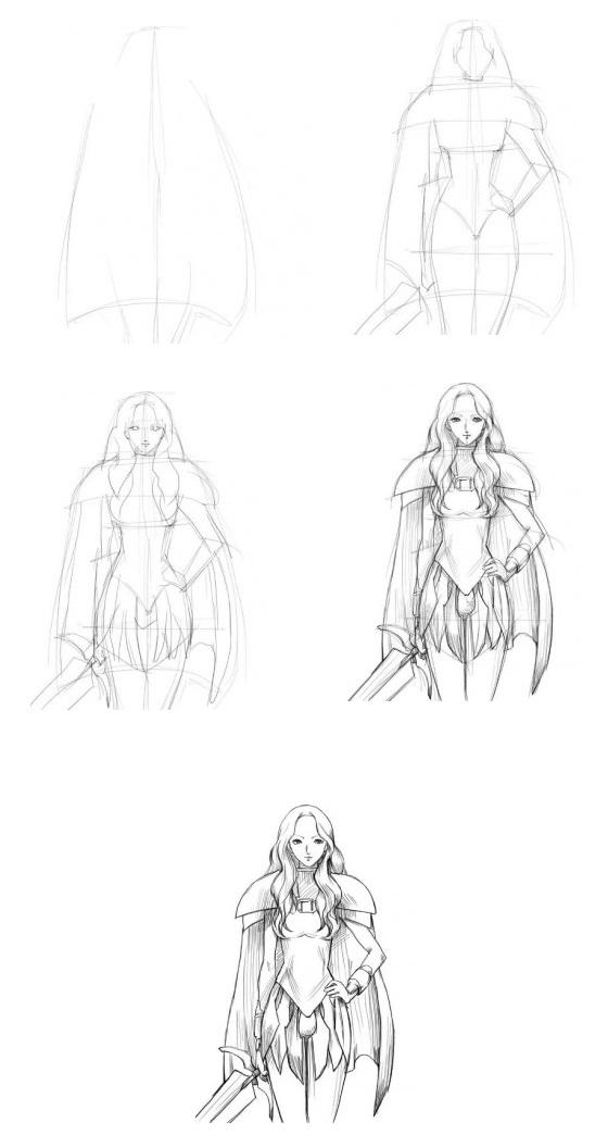 Как-нарисовать-девушку-с-мечем