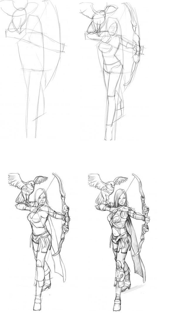 Как-нарисовать-лук-карандашом-поэтапно-1-238x470