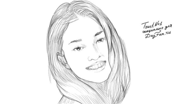 Как нарисовать девушку с красивой улыбкой