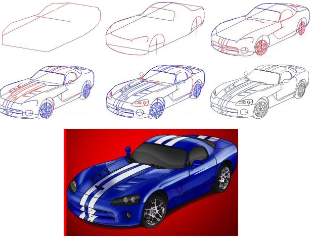 how-to-draw-a-dodge-viper-car-step-1