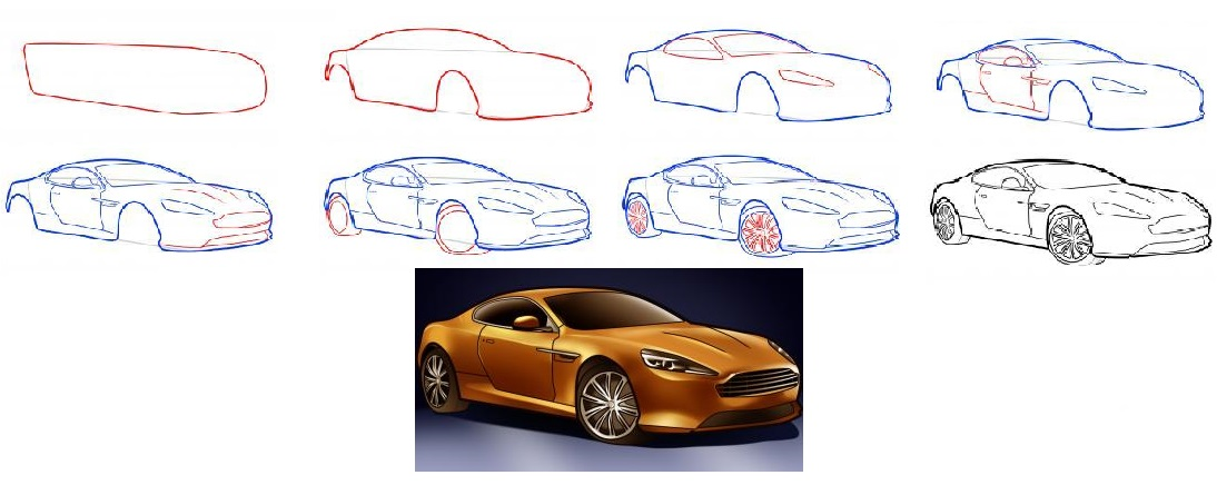 how-to-draw-an-aston-martin-aston-martin-virage-step-1