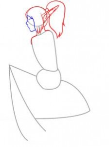 девушка эльф рисунок