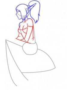 как нарисовать эльфа девочку