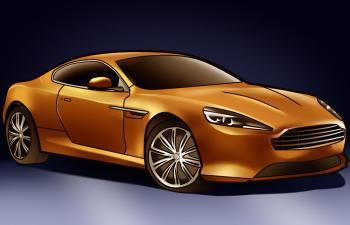 Как нарисовать Aston Martin