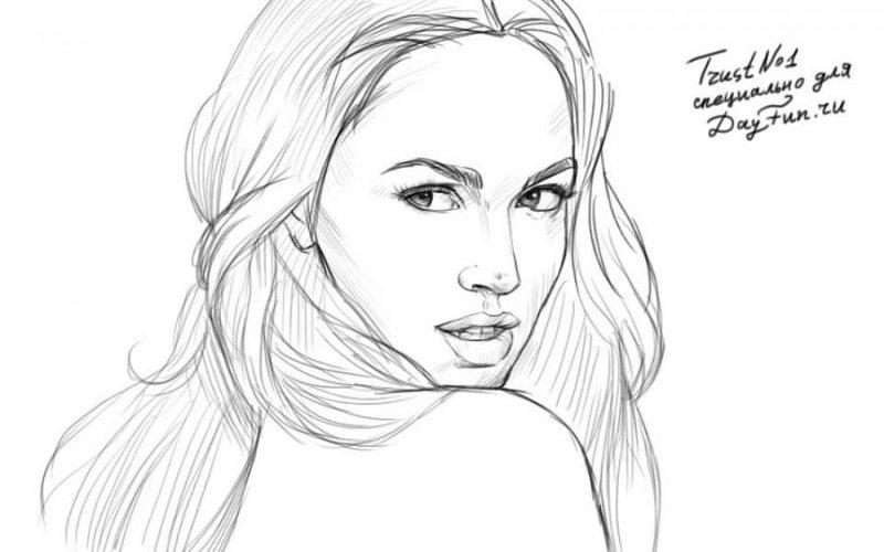 Нарисовать красивую девушку карандашом